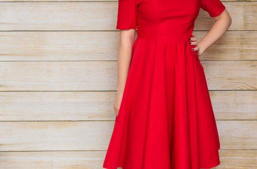 Красное платье с юбкой солнце-клеш от Belle Poque (цена со скидкой $7.92)