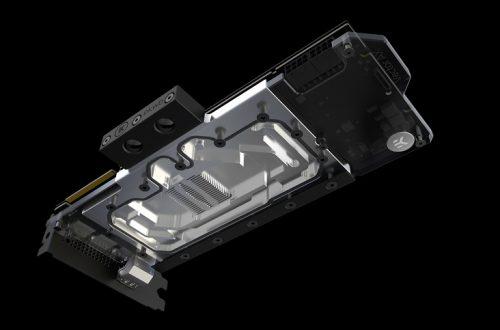 Основание водоблока EK-AC GeForce RTX D-RGB изготовлено из алюминия