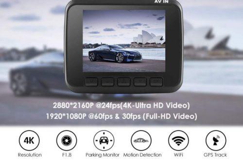 4к wifi регистратор AZDOME GS63H с GPS