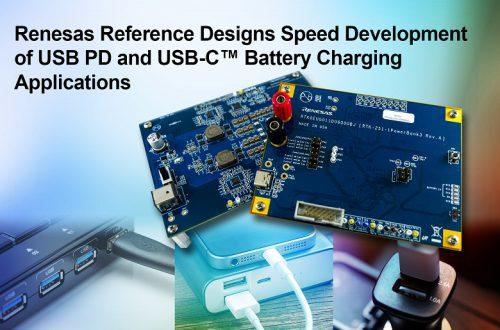 Renesas Electronics упрощает разработку схем USB PD и зарядки по USB-C, предлагая новые примеры готовых решений