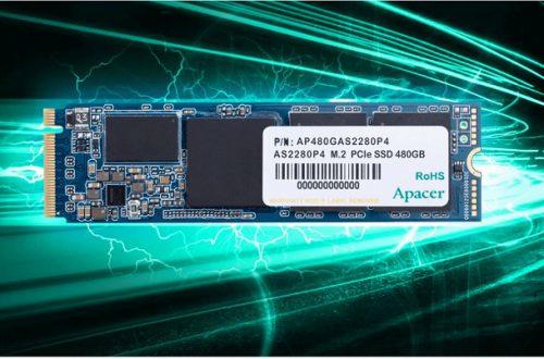 Скорость чтения SSD Apacer AS2880P4 PCIe M.2 достигает 3200 МБ/с