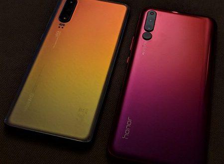 Три модуля камеры против четырех: Huawei P30 и Honor 20 Pro позируют на одной картинке