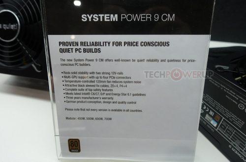 Блоки питания be quiet! System Power 9 CM получили комбинированные кабельные системы