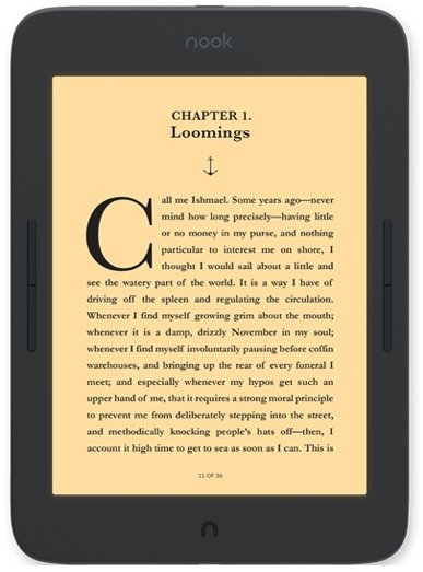 Nook GlowLight Plus — электронная книга Barnes & Noble с самым большим экраном