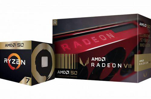 Две игры, футболка, наклейки и уникальное оформление: AMD представила Ryzen 7 2700X Gold Edition и Radeon VII Gold Edition