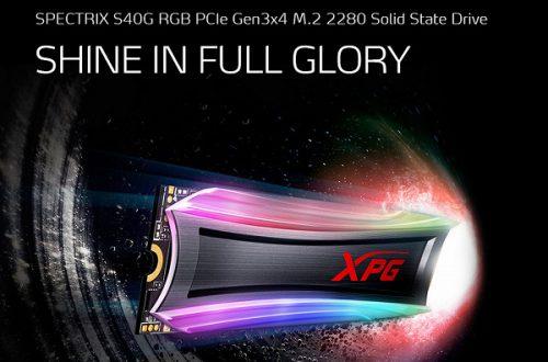 Твердотельные накопители Adata XPG Spectrix S40G украшены полноцветной подсветкой
