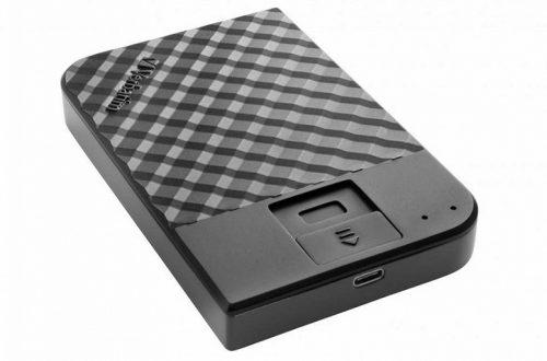 Внешний жесткий диск Verbatim Fingerprint Secure оснащен дактилоскопическим датчиком