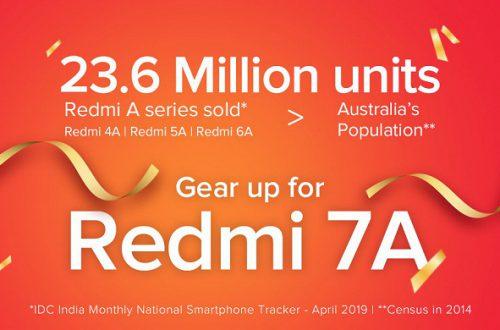 В ожидании Redmi 7A. Продажи Redmi 4А, Redmi 5А и Redmi 6А превысили 23 млн единиц