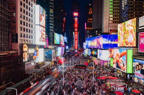 Samsung установила огромный LED-экран на Таймс-сквер в Нью-Йорке