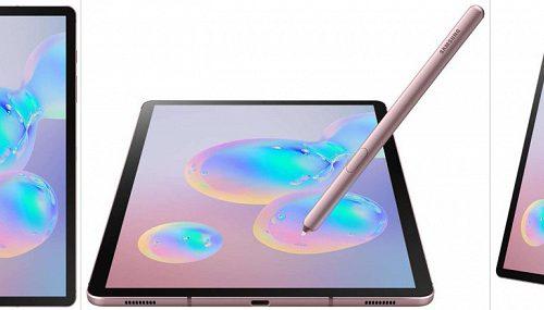 Планшет Samsung Galaxy Tab S6 в цвете Rose Blush Pink красуется на официальных изображениях