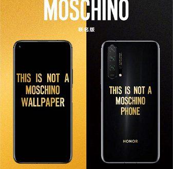 Смартфон Honor 20 Pro Moschino Edition на первых изображениях выглядит очень забавно