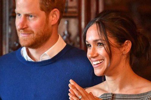 Меган Маркл с принцем Гарри посетили благотворительный матч, где получили подарки для своего сына