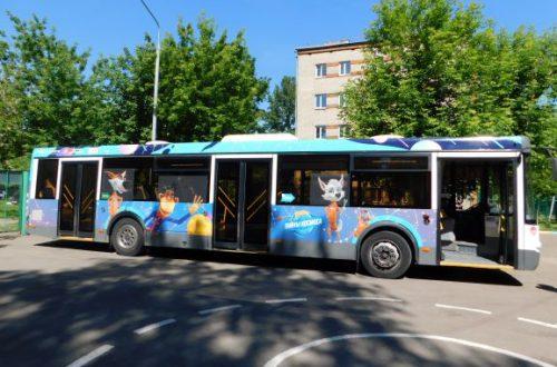 На маршруты Подмосковья вышли автобусы с Белкой и Стрелкой