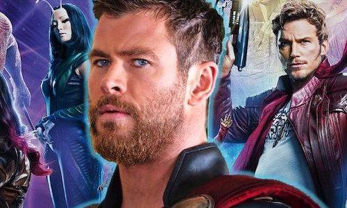 Стильный постер «Стражей галактики 3» с Тором