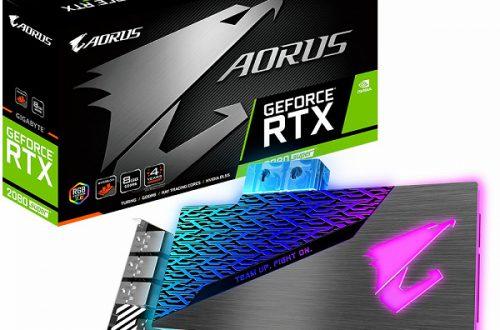 3D-карта Gigabyte Aorus GeForce RTX 2080 Super WaterForce WB 8G оснащена водоблоком