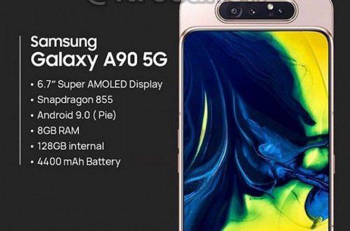 Опубликованы характеристики «бюджетного» флагмана Samsung Galaxy A90 5G: экран 6,7 дюйма, Snapdragon 855, 8 ГБ ОЗУ и слайдер с камерой