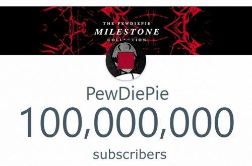 Рубеж в 100 миллионов подписчиков в YouTube покорился блогеру PewDiePie