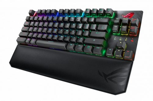 Клавиатура Asus ROG Strix Scope TKL комплектуется съемным упором для рук
