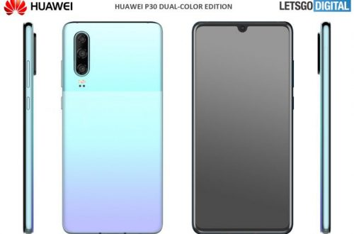 Двухцветные версии Huawei P30 получили названия Misty Lavender и Mystic Blue