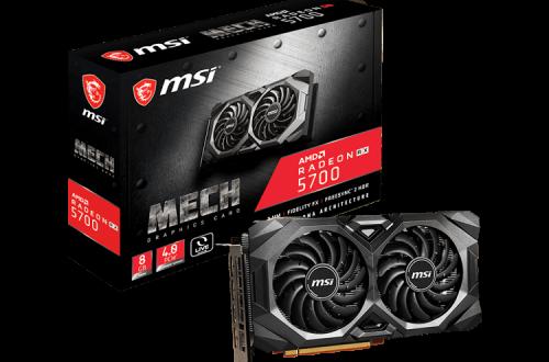 Mech и Evoke. MSI представила восемь нереференсных видеокарт Radeon RX 5700 и RX 5700 XT