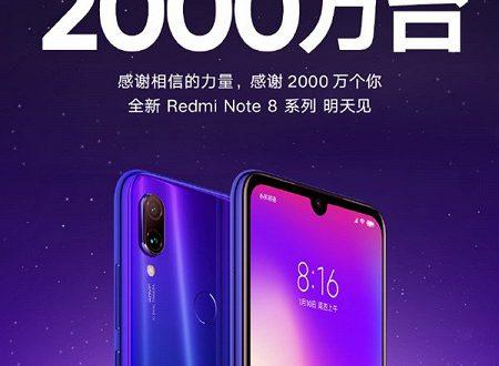 Продажи смартфонов Redmi Note 7 превысили 20 миллионов штук, Redmi Note 8 уже на подходе