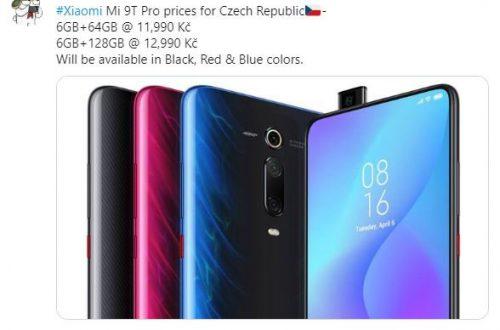 Xiaomi Mi 9T Pro может оказаться дороже, чем ожидалось