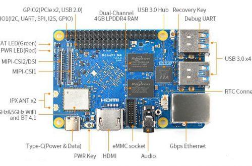 Одноплатный ПК NanoPi M4 обновился, получив память LPDDR4 и меньшую цену