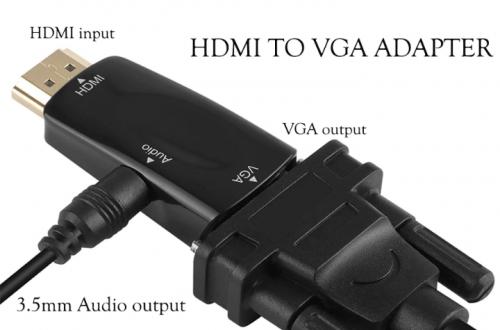 Переходник-преобразователь Hdmi-to-Vga за 1.87$
