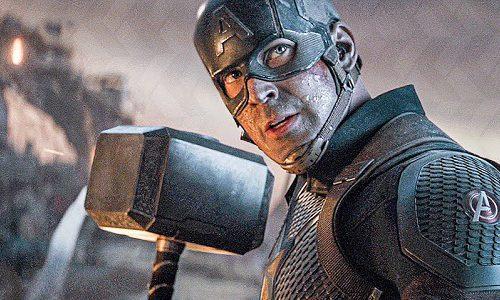 Реакция Криса Хемсворта на то, что Капитан Америка поднял молот Тора