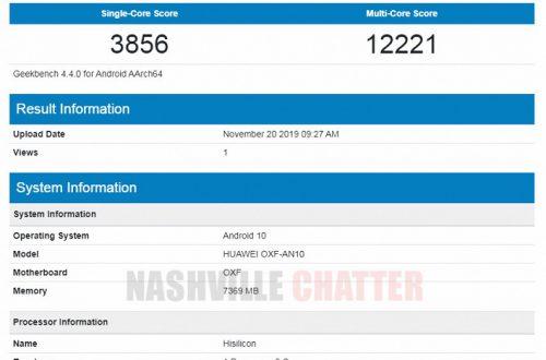 Honor V30 демонстрирует производительность на уровне Huawei Mate 30 Pro