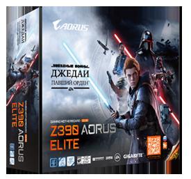 Gigabyte дарит покупателям плат Z390 Aorus Elite и видеокарт GeForce RTX 2070 Super Gaming OC 3X 8G ограниченных серий игру «Звездные войны. Джедаи: Павший Орден»