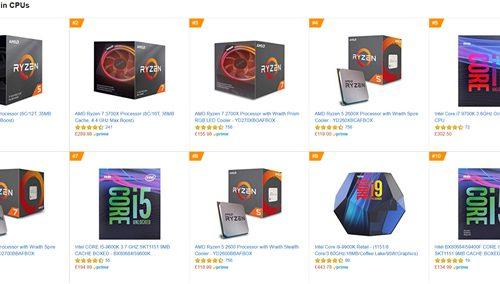 AMD Ryzen оккупировали Топ-10 самых востребованных процессоров площадки Amazon в Великобритании и Германии