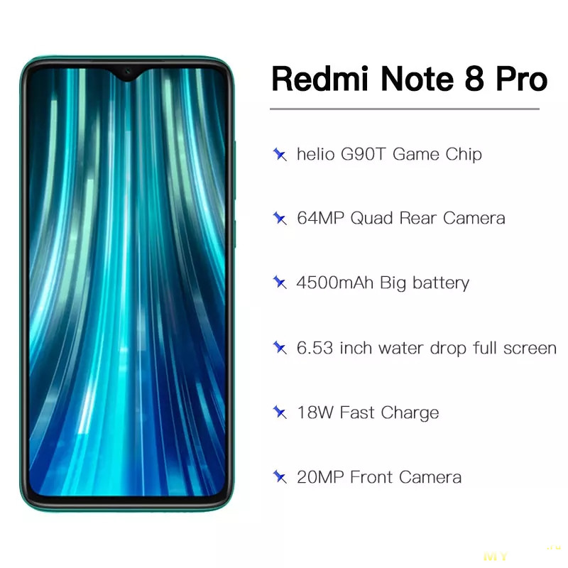 Смартфон Redmi Note 8 Pro 6/64Gb NFC/Global за 179.26$