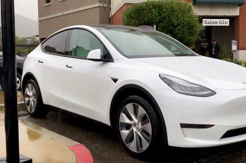 Tesla Model Y наконец-то можно рассмотреть вживую во всей красе