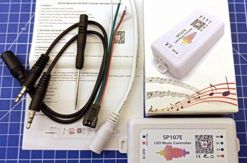Контроллер светодиодов с пиксельной адресацией SP107E с Bluetooth и аудиовходом