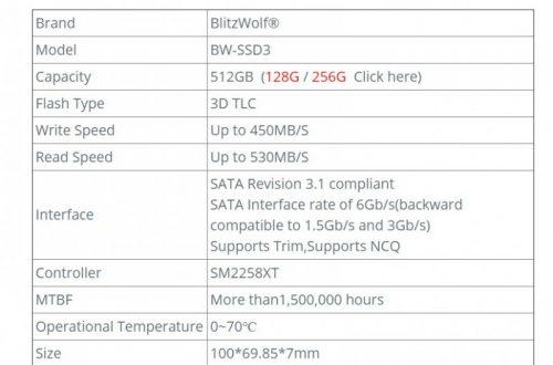 Обзор накопителя BlitzWolf® BW-SSD3 512GB