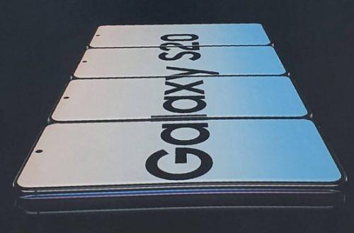 Samsung Galaxy S20 на официальном изображении