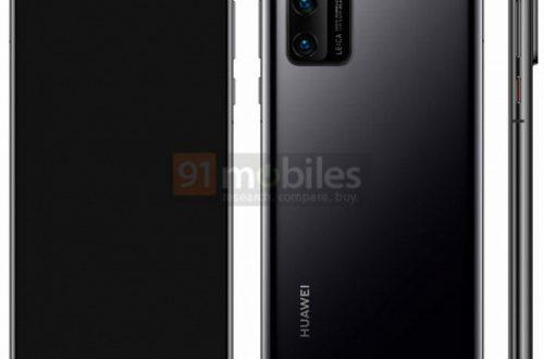 Huawei P40 позирует на качественном рендере
