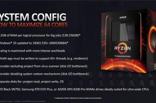 AMD объясняет, как выжать максимум из 64-ядерного Ryzen Threadripper 3990X