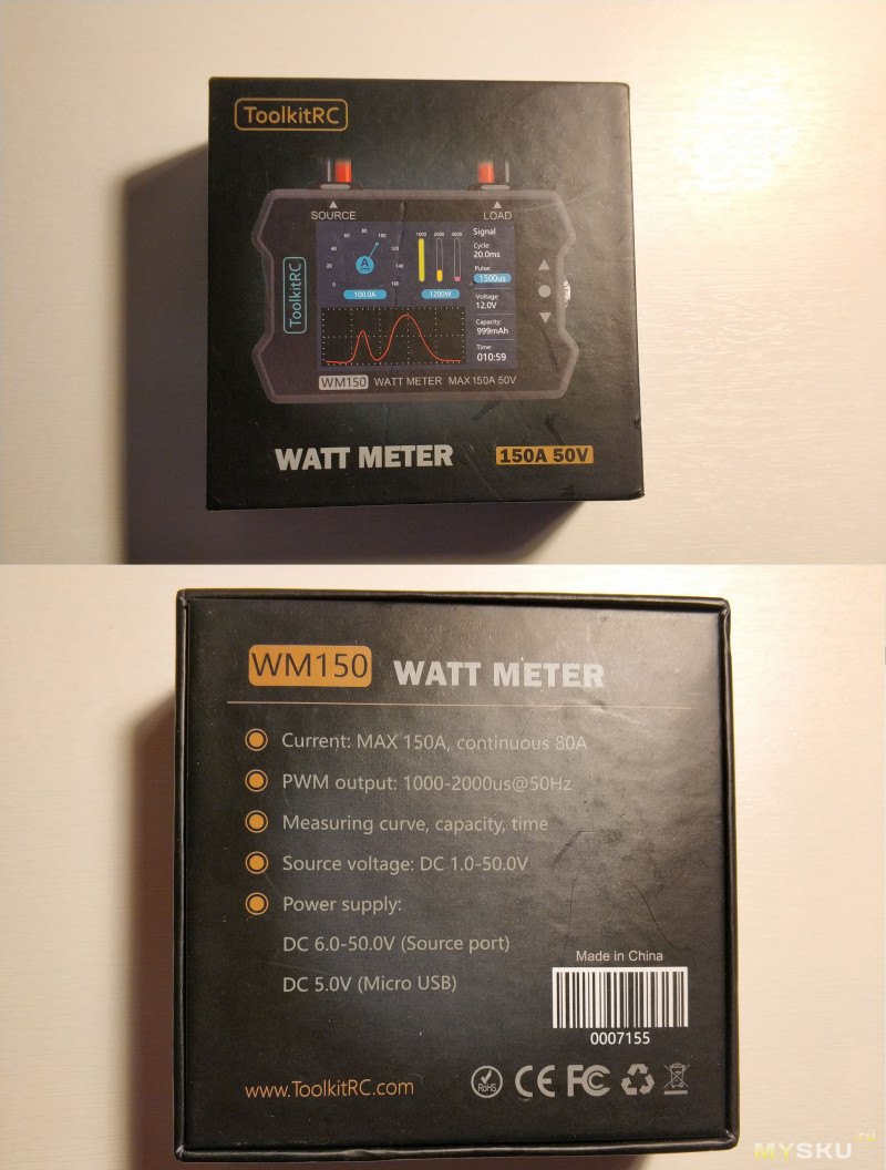 Ваттметер ToolkitRC WM150