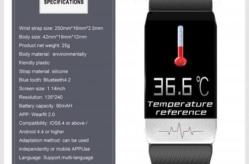 Смарт-браслет Bakeey T1 с измерением температуры $15.99