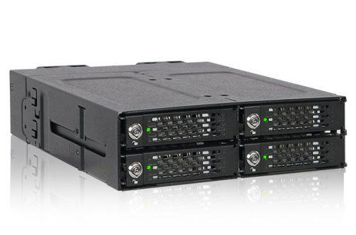 Icy Dock ToughArmor MB720M2K-B позволяет разместить в отсеке типоразмера 5,25 дюйма четыре накопителя типоразмера M.2 с поддержкой NVMe