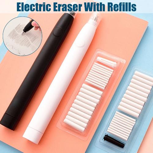 Электрическая стёрка Electric Pencil Eraser с съёмными стержнями. Цена с купоном 5.09$