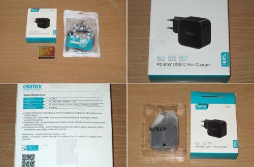 Блок питания (зарядное устройство) Choetech Q6006 с поддержкой PD 61Вт и GaN технологией