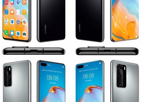 Huawei P40 и P40 Pro в полный рост на официальных рендерах