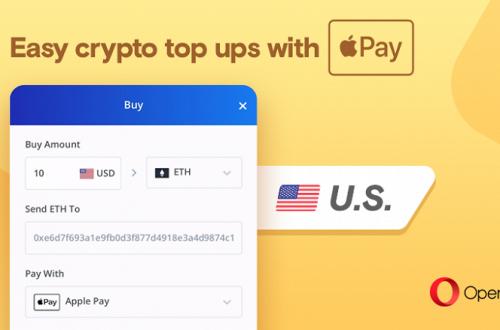 В браузере Opera теперь можно купить Bitcoin, используя Apple Pay