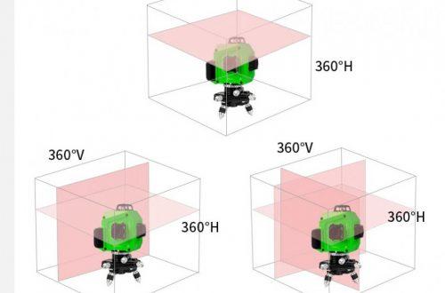 PRACMANU лазерный 3D уровень (cloth bag) W003.$40.47