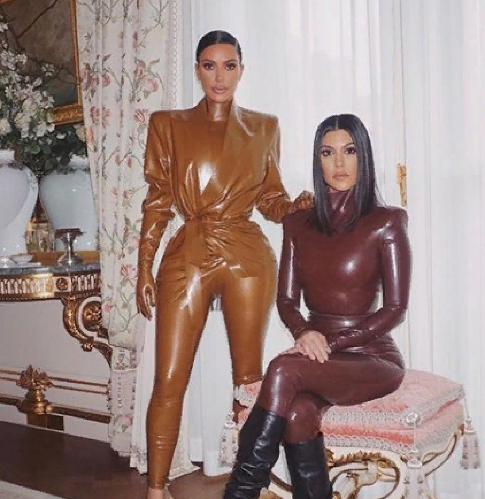 В Сети появилось видео нелепого облачения Ким Кардашьян в латекс (видео)
