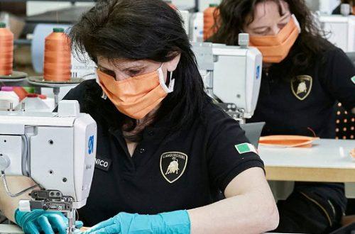 Lamborghini начала выпуск медицинских масок и щитков для лица