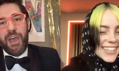 Билли Айлиш посетила новый выпуск шоу Джона Красински
